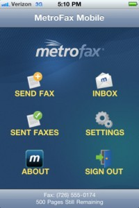 MetroFax iPhone App