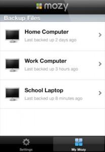 Mozy iPhone App