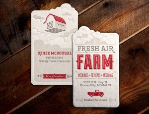 small business card design for event place