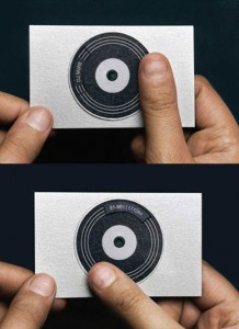 innovative business card for DJ