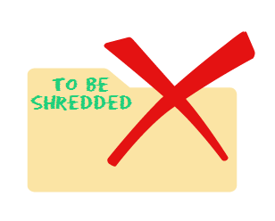 shredding sensitive documents