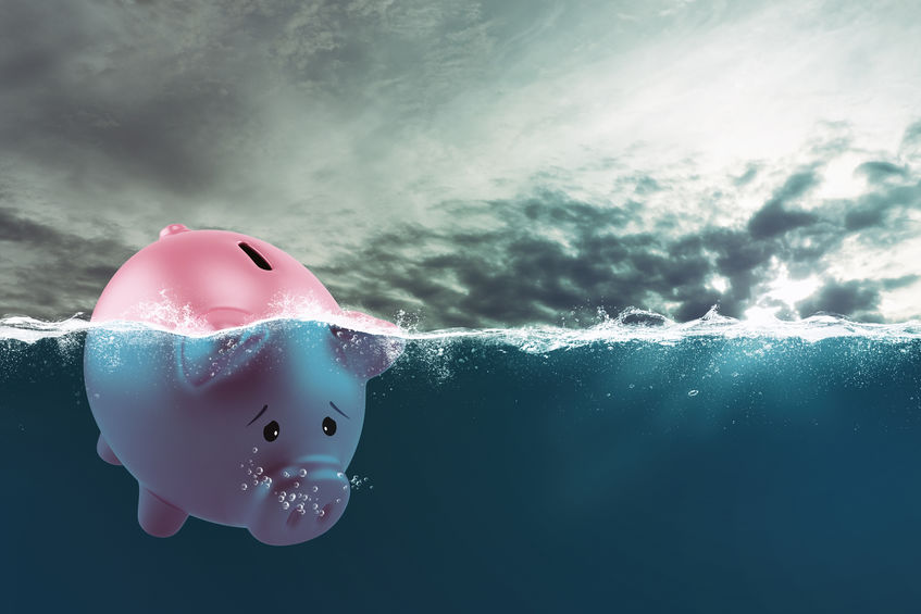 Business Emergency Fund Piggy Bank Floating