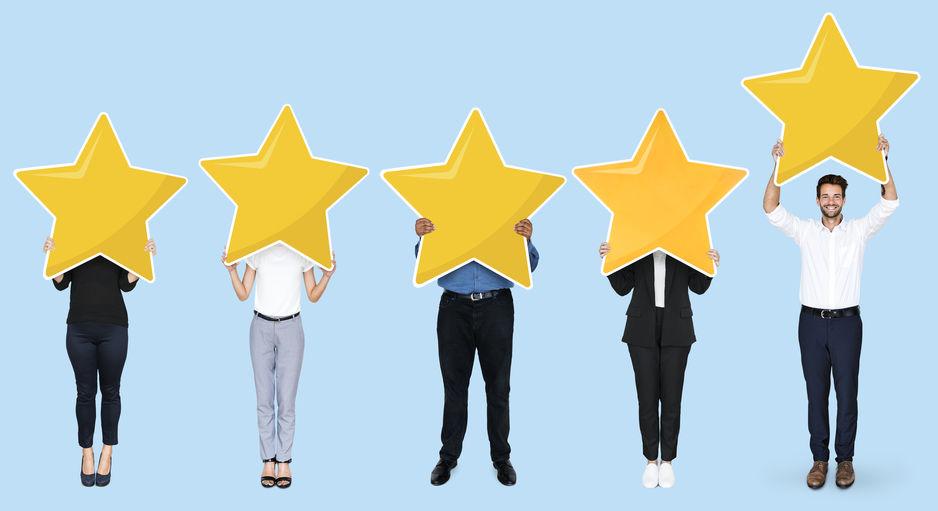 Customer Testimonials Business Promotion Stars